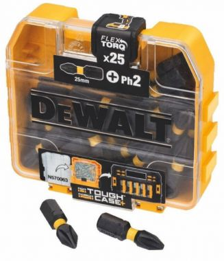 Набор бит EXTREME FlexTorq PH2 25 мм 25 шт. в кейсе DeWalt DT70555T-QZ ― DeWALT